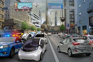 Teknostaden: Det är god tillgång på energi. Ekonomin blomstrar i lokala innovationskluster. Inkomstnivåerna är relativt jämnt fördelade. Transportsystemet är nästan helt automatiserat. Några parkeringsplatser behövs knappt eftersom de fordon som behövs är i ständig rörelse. Därför har staden kunnat förtätas med nya byggnader som producerar mer energi än de förbrukar. Nära idag: Singapore, Tokyo och Seoul.