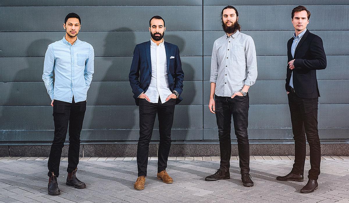 Ingenjörerna i Linköping som står bakom Homeq: Ruben Das, Hedi Kurda, Alexander Yngve och Marcus Källstrand.