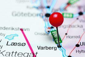 Karta över Varberg
