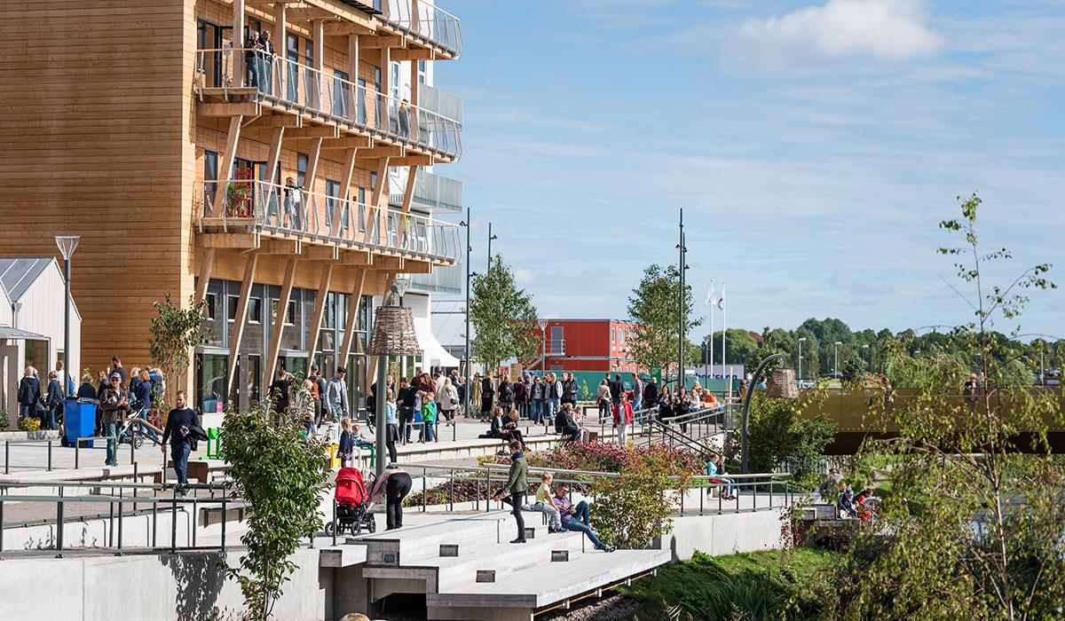 Foto av trähus byggt av Arkitektkontoret Omniplan