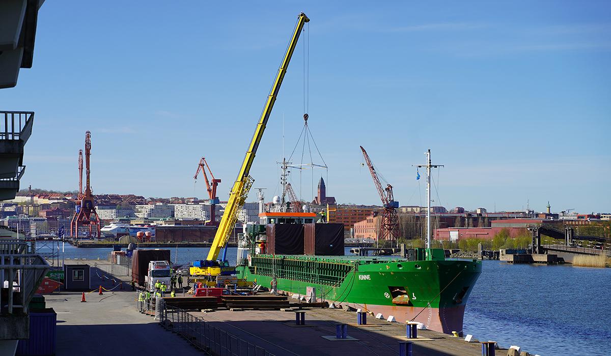 Nya bostäder anländer till Frihamnen i Göteborg