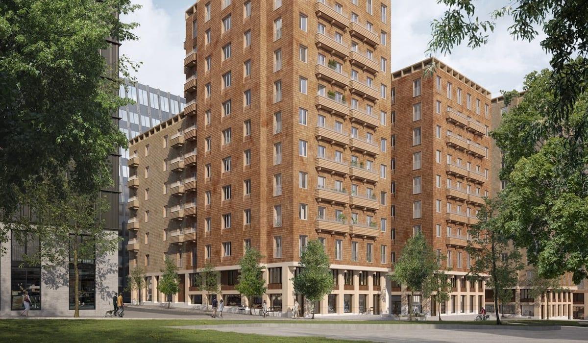Stockholms första kvarter helt i trä